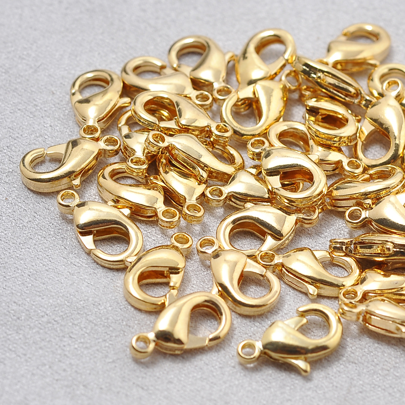 K010378,6*12mm 24k real gold plated lobster clasp ,Lead and nickel free lobster clasps ,no allergy no fade lobster clasp Large(China (Mainland))