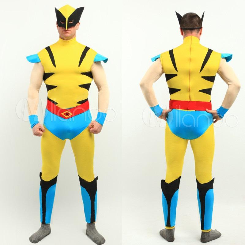 High Quality Adult/Children's Halloween Male Logan Wolf Cosplay Costumes Men's Lycra Zentai SuperHero Costume Full Body Suit(China (Mainland))