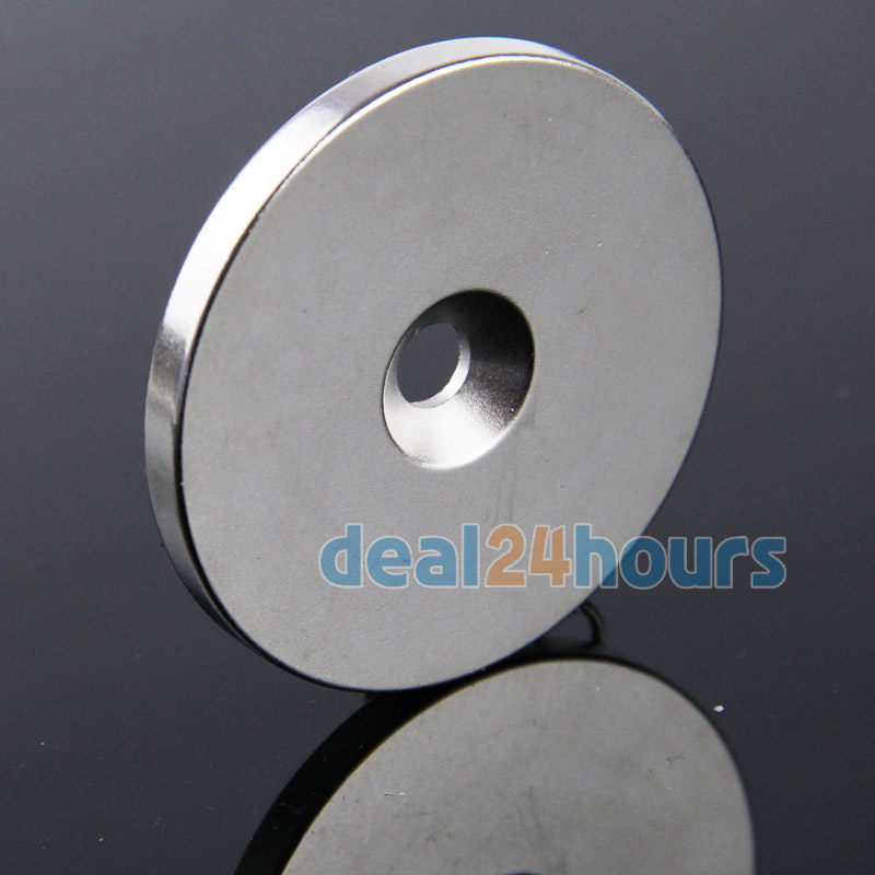 1PC Big Round Countersunk Ring Magnets Disc 50mm x 5mm Hole 6mm Rare Earth Neodymium N35 Free Shipping<br><br>Aliexpress