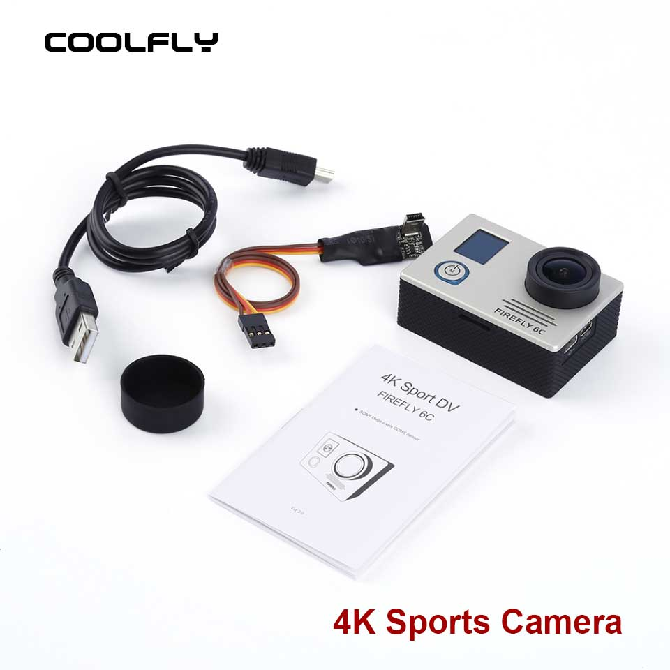 Silver/Black 4K @24FPS 16MP HD Action Sports Camera FPV for FIREFLY 6C For FPV Multicopter Remote RC Aircraft Quadcopter