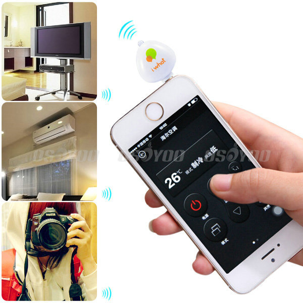Portable 3.5mm Pocket Mobile Phone Smart IR Remote Control For Air Conditioner TV DVD Projector Free Shipping & Drop Shipping(China (Mainland))