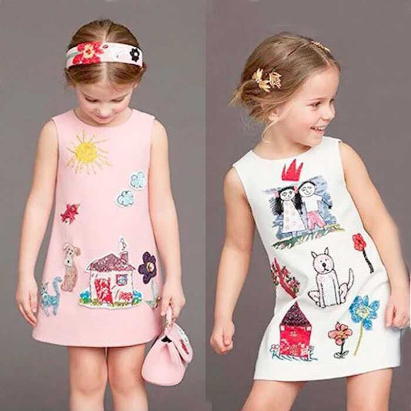 Girls Dresses Summer 2016 Designer A Line Princess Dress