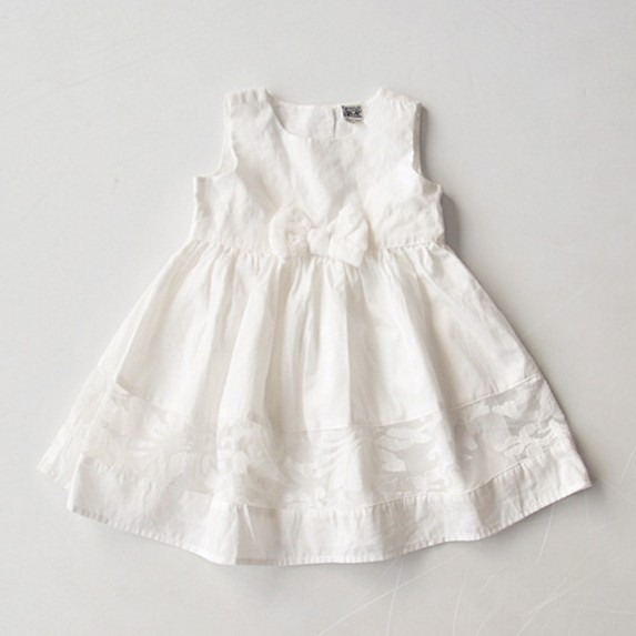 2016 New Girls baby Bud silk vest Dress Double white cotton super beautiful bowknot princess dress  wholesale<br><br>Aliexpress