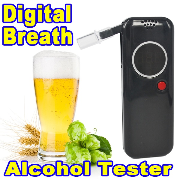 2015 New Police Digital Alcohol Tester Alcohol Breathalyzer Breath Analyzer With 6 Mouthpieces Drive Safety LED Backlight(China (Mainland))