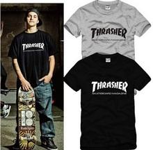 New T Male thrasher lovers short-sleeve T-shirt skateboard swag HARAJUKU hiphop t shirt MEN T shirts couple clothing XXXL GC49