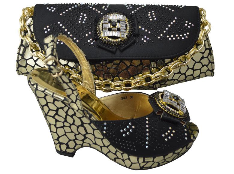Здесь можно купить  New fashion women/lady italian shoes with matching bags Black color  high heel,GF42 size 38-42 for Free shipping by DHL.  Обувь