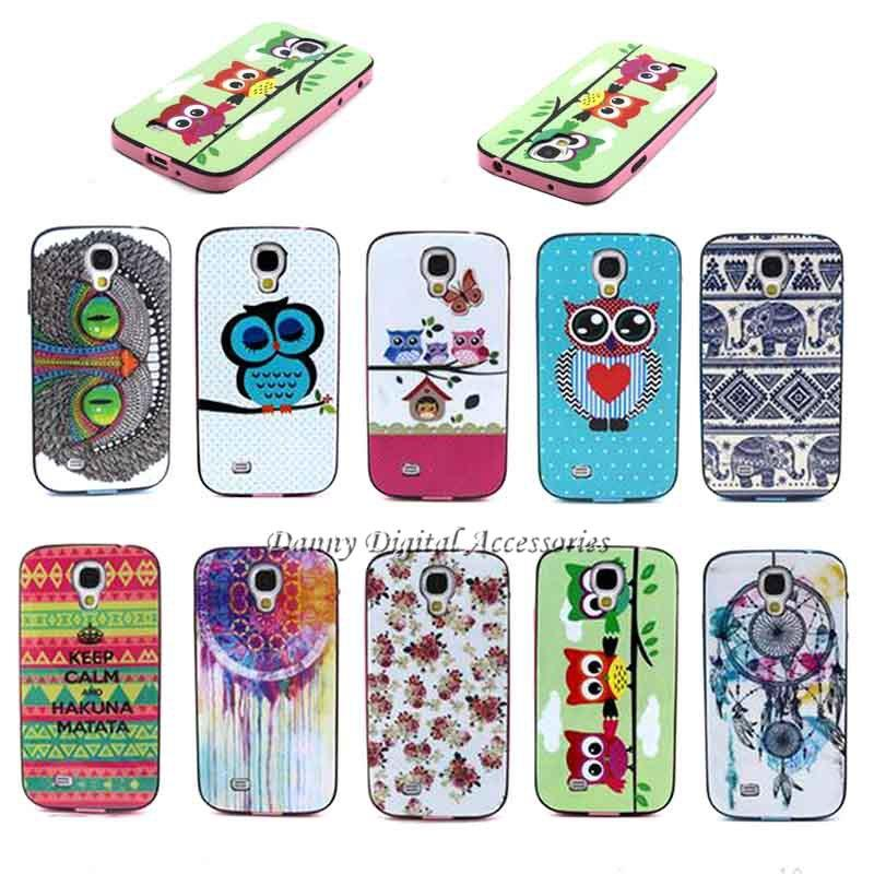 Samsung Galaxy S4 i9500 Luxury 2 1 PC+TPU Hybrid Korea Style Cute Patterns Shock Absorbing Phone Cases Cover - Danny Digital Accessories store