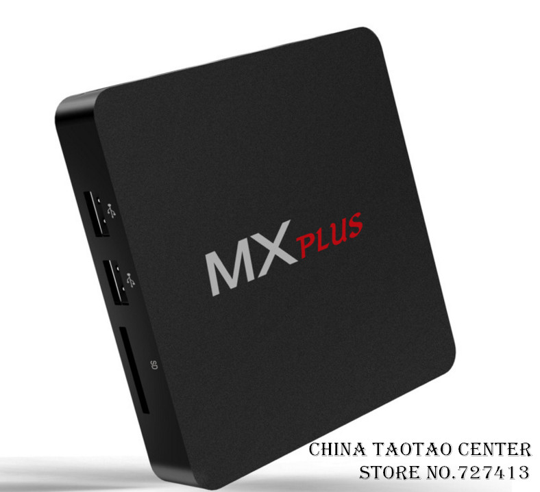 new MX PLUS android TV BOX S905 hd network player Quad-core wifi set-top box mx free shipping