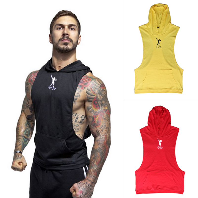 Sleeveless Hoodie Men Workout | Fashion Ql