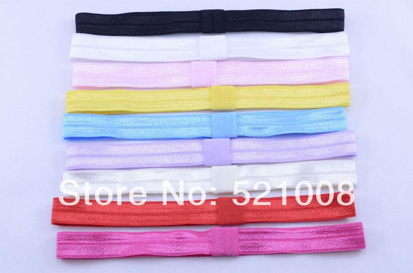 Wholesale Shimmery Elastic Stretch Headband FOE Headband for Baby Girls Women's Foldover Hairbands Hair Accessories 900pcs(China (Mainland))