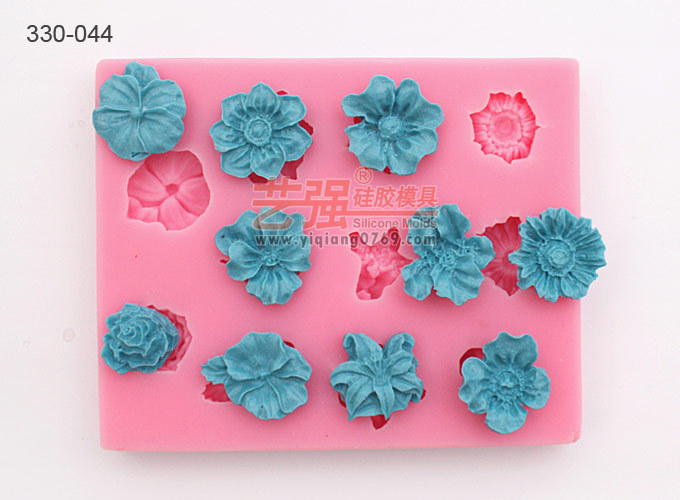New Arrival free shipping USA flower shape silicone moulds moon cake mold fondant cake decorating tools molde de silicone(China (Mainland))
