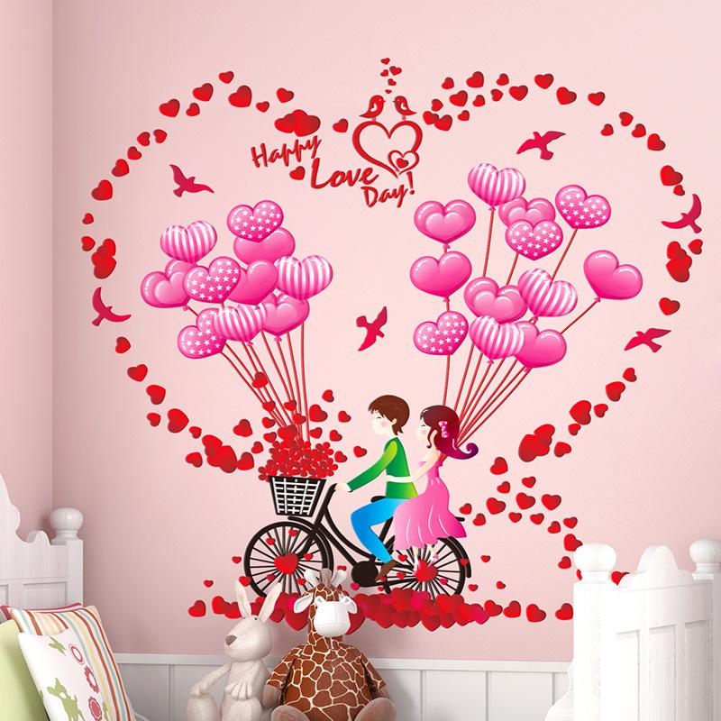 Online get cheap boy girl love balloon sticker alibaba group - Kamer meisje jongen ...