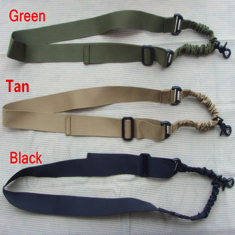 1000D Nylon material military Tactical one Point Single Rifle Sling Length Adjustable Black Green Tan color Available - Outdoor's Equipment store