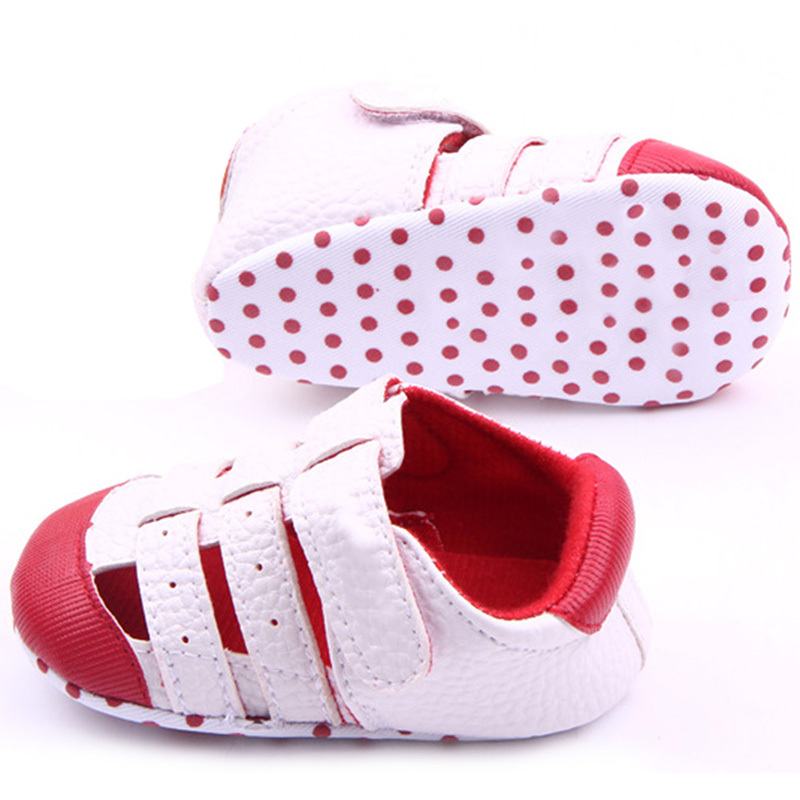 Baby kids Boys Girls Outdoors Soft PU Leather Infant First Walker Toddler Shoes - -Sunflower- store