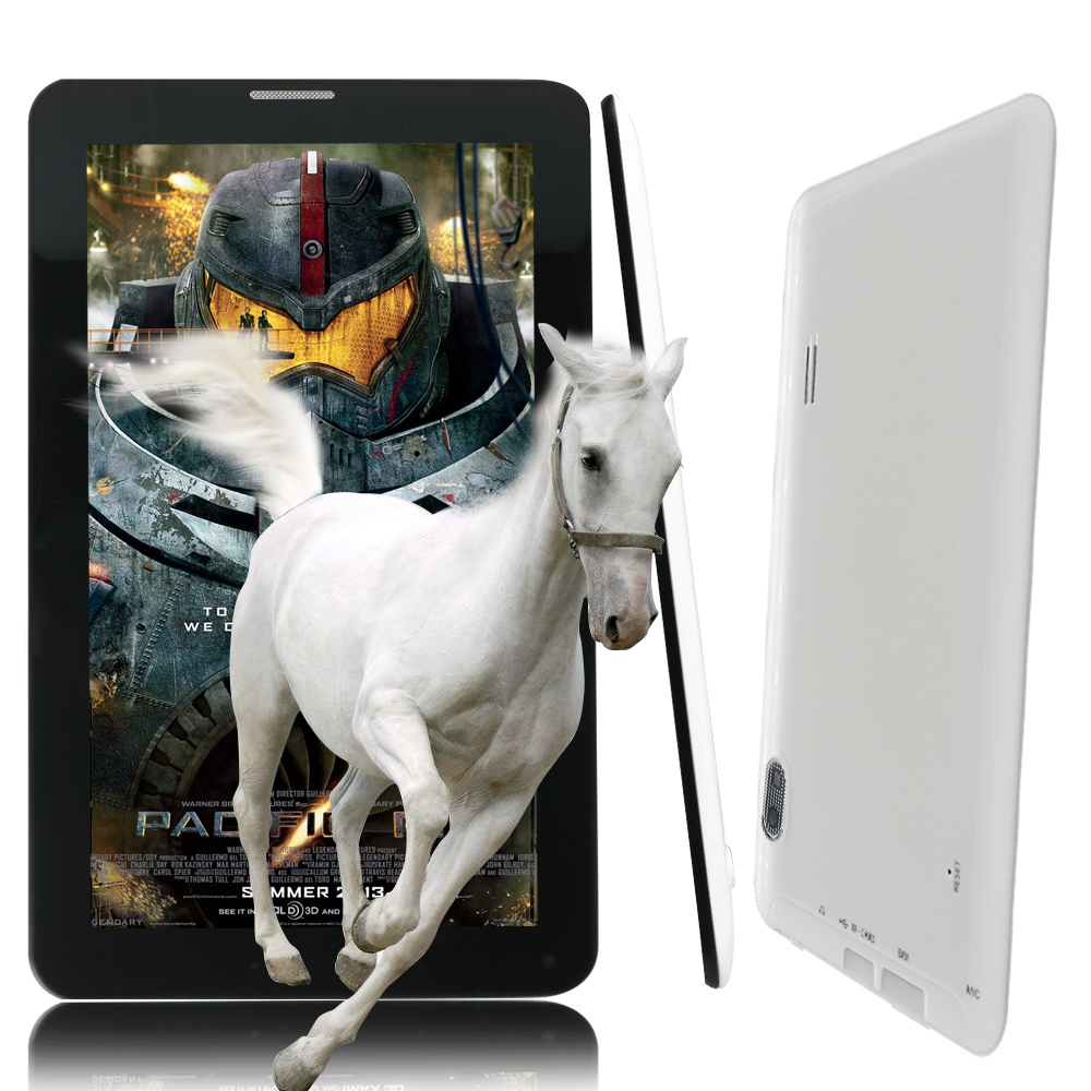 7 Inch Andrroid4 4 Dual Core Tablet pc WiFi 2G Phone Call 512MB 4GB SIM Card