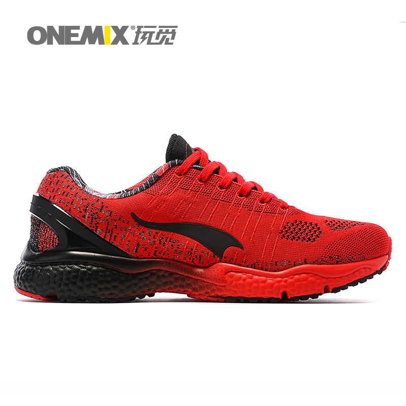 ONEMIX Man Running Shoes For Men Olympic Athletic Trainers Navy Orange Zapatillas Sports Shoe Outdoor Walking Sneakers Free Ship