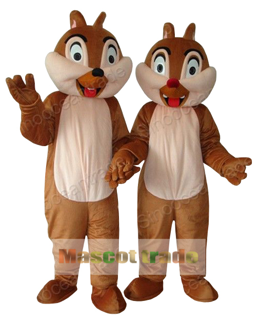 Chip E Dale Chipmunk 2 Adult Mascot Costume Fancy Outfit Cartoon Character Party Dress Free ShippingОдежда и ак�е��уары<br><br><br>Aliexpress