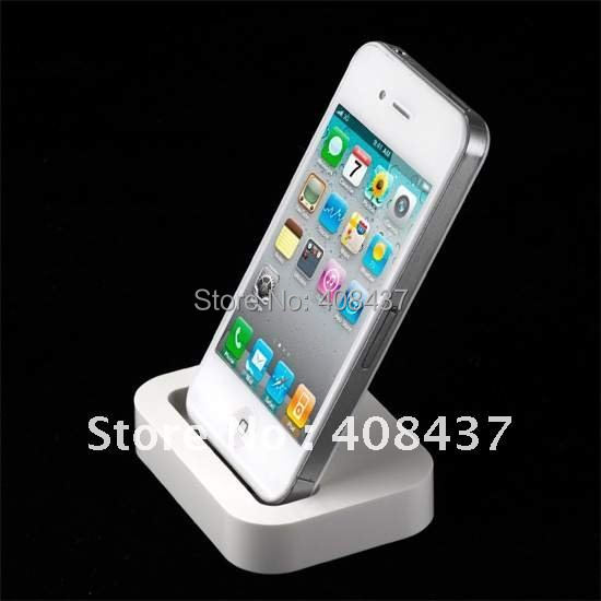 Dock Base Cradle station iphone 4 4s 4g 4gs Charge Sync Audio Line White - RichGain Tech. Shenzhen store