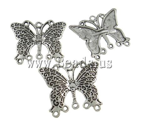 Free shipping!!!Zinc Alloy Connector,High quality, Butterfly, antique silver color plated, nickel, lead & cadmium free
