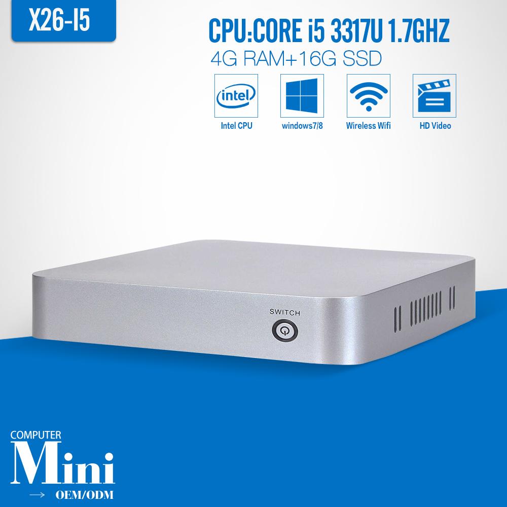 i5 3317u dual core CPU 4GB / 16GB Win8/7/10 mini PC Single OS TV box Dual core Thin client HDMI+VGA(China (Mainland))