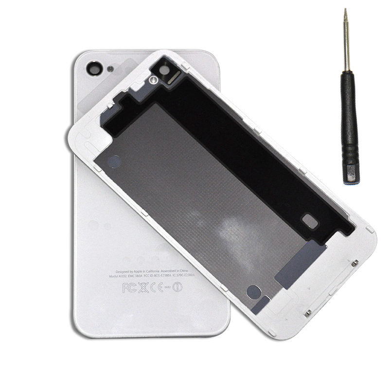 Free shipping OEM Battery Cover For iPhone4 4S Back Cover Door Rear Panel Plate Glass Housing Replacement Black/White with Tool(China (Mainland))
