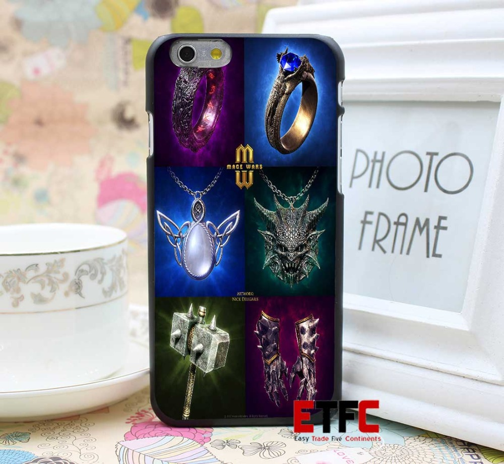 Mage Wars Card art Equipment Design for iPhone 6 6 Plus Hard Black Skin Case Cover(China (Mainland))