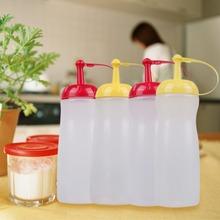 Kitchen Leakproof Sauce Container Squeeze Oiler Ketchup Bottle with Cover (China (Mainland))