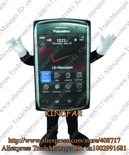 Mobile Phone Mascot Costume CELLULAR T Cellphone Telephone Handset Cell Character No.3966 Free Ship(China (Mainland))
