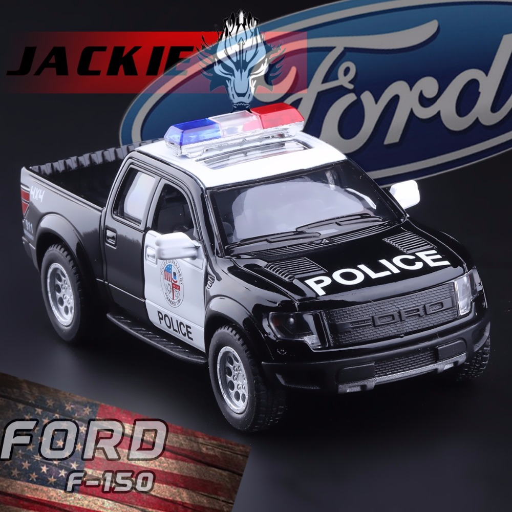 Free Shipping 1:46 Diecast Metal Ford F150 SVT Raptor SuperCrew Police Children Education Alloy Model Toy Cars Gift For Kids(China (Mainland))