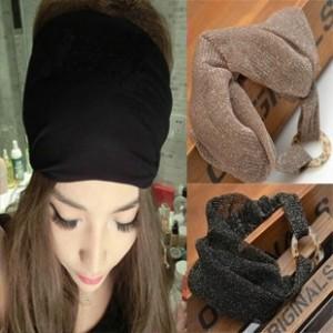 New hair accessories women popular headscarf chiffon scarf elastic lace headdress Korean style lady head band FD232(China (Mainland))