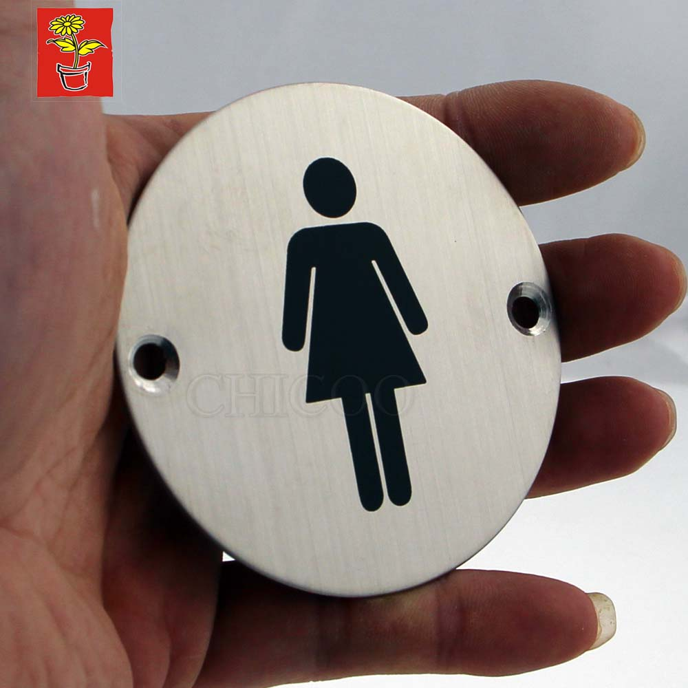Hi-Q Door Sign Plates Toilet Plate Women Signs Stainless Steel Door Name Plate Office WC Plate Door Sign Projects Hardware(China (Mainland))