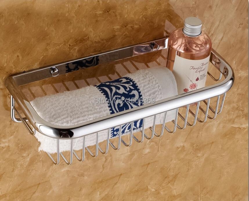top high quality brass material chrome finished bathroom shelves bathroom shampoo shelf soap basket holder bathroom accessories(China (Mainland))