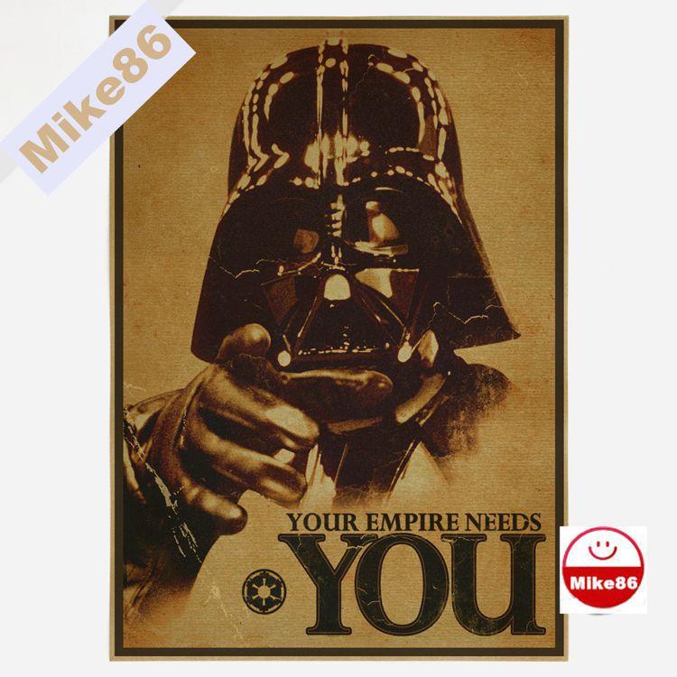[ Mike86 ] Vintage Star Wars Poster Retro art Wall home Decoration 30X42 CM BM-375(China (Mainland))