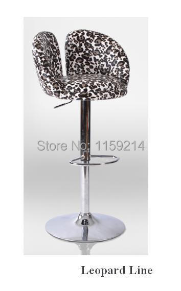 Leopard line bar chair coffee house lifting stool office computer European style barchair Home fashion reception bar Stool<br><br>Aliexpress