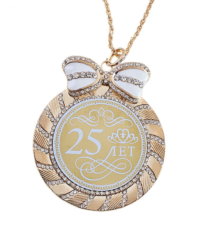 "2015 factory direct sales pop birthday souvenirs mascots lovely medals ""25 years"" birthday party decor rhinestone ornament art(China (Mainland))"