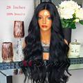 200 26 Inch Long Human Hair Lace Front Wigs Black Women Wet Wavy Wigs 16inches Bob