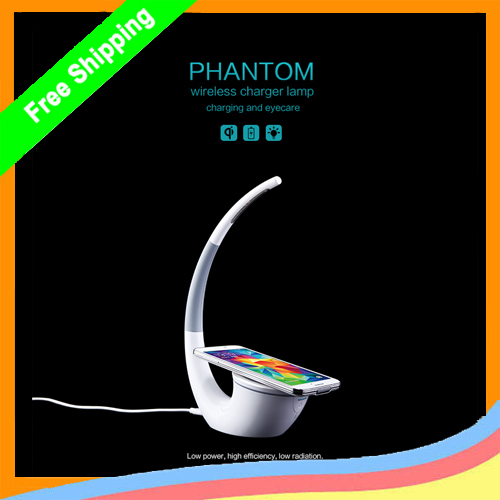 Nillkin Phantom Wireless Charger lamp Qi Wireless Charger Table Lamp for LG nexus 5 iPhone 5 iphone 6 Samsung S4 S5 Note 3(China (Mainland))