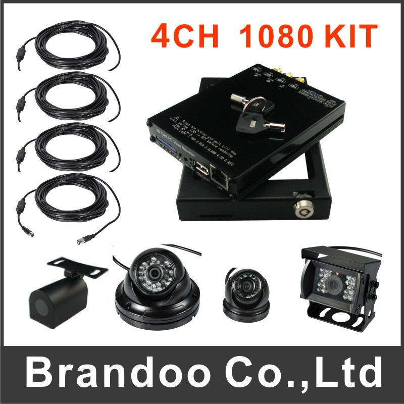 4 Channel 1080P H.264 Mobile DVR Car DVR Recorder for tank,van,taxi,shuttle bus,school bus used from Brandoo(China (Mainland))