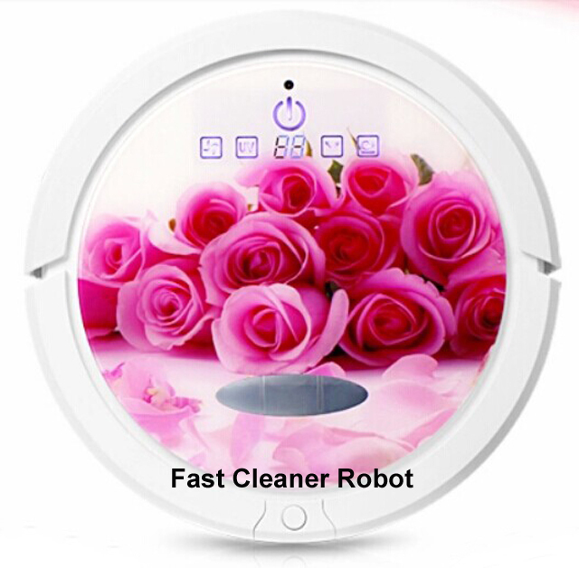 (Free To Russia)2015 Newest Romantic Rose Color Robot Vacuum Cleaner which is the BEST GIFT for your lovely Wife or Girl Friend(China (Mainland))