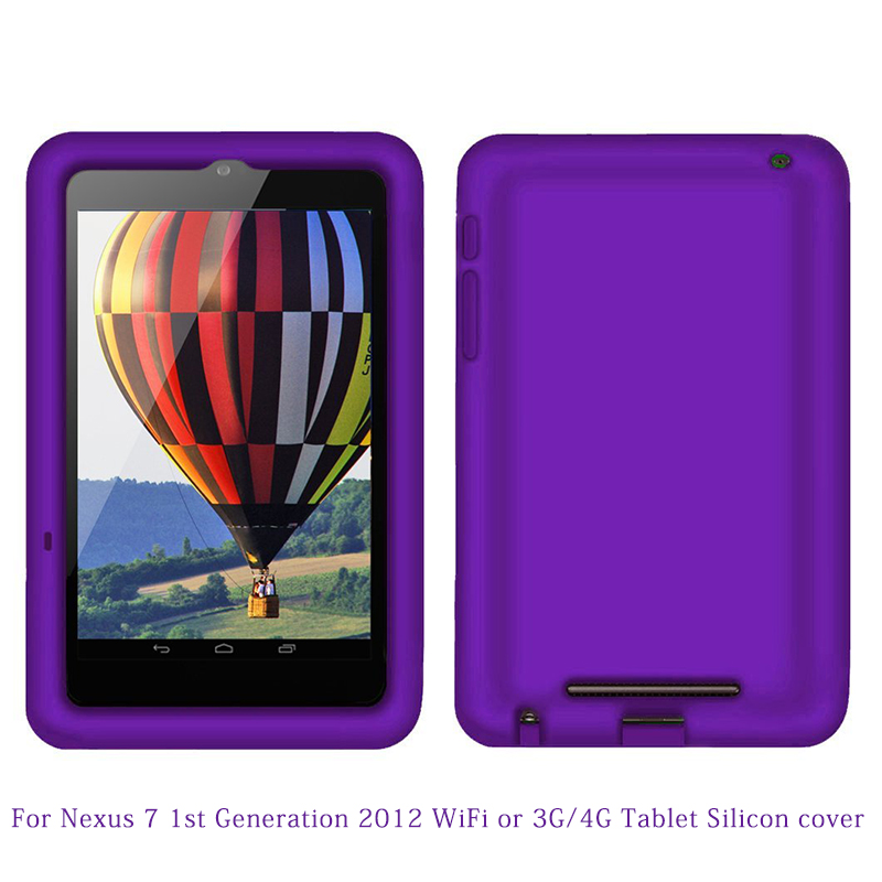 Silicone Rugged tablet Case for Google Nexus 7 1st 2012 WiFi 3G 4G (not for Nexus 7 FHD 2013)7 inch tablet Protective case Cover(China (Mainland))