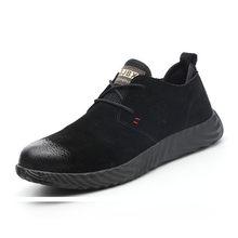ROXDIA merk varken huid stalen neus mannen vrouwen veiligheid laarzen plus size 37-45 lente herfst casual lichtgewicht werk schoenen RXM121(China)
