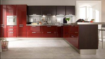 customized solid wood kitchen cabinet /kitchen furniture/kitchen cupboard/blum drawer