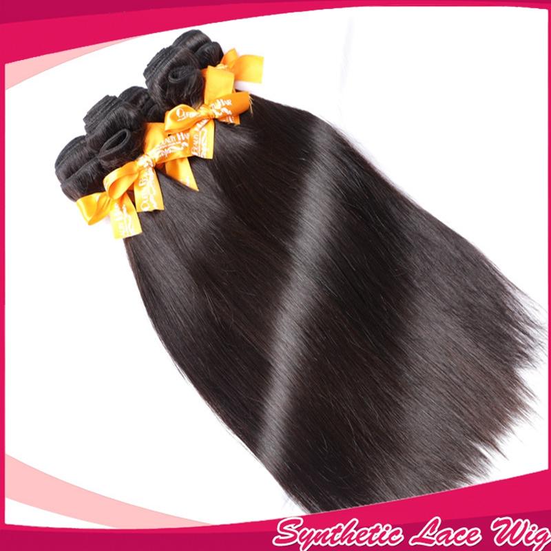 Beast Quality hair vendors Straight natural synthetic soft hair bundle deals black natural hair bundle b products(China (Mainland))