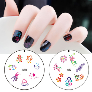 DIY 3D acrylic nail stamping plate image silicon Free shipping New stamping nails art plate stamples for beginner 1lot=5pcs(China (Mainland))