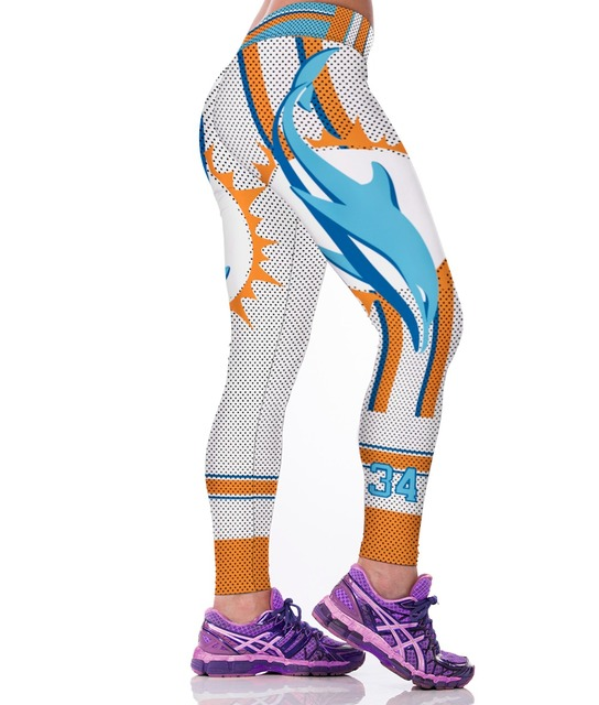 Dolphin 3D Print High Waist Leggings