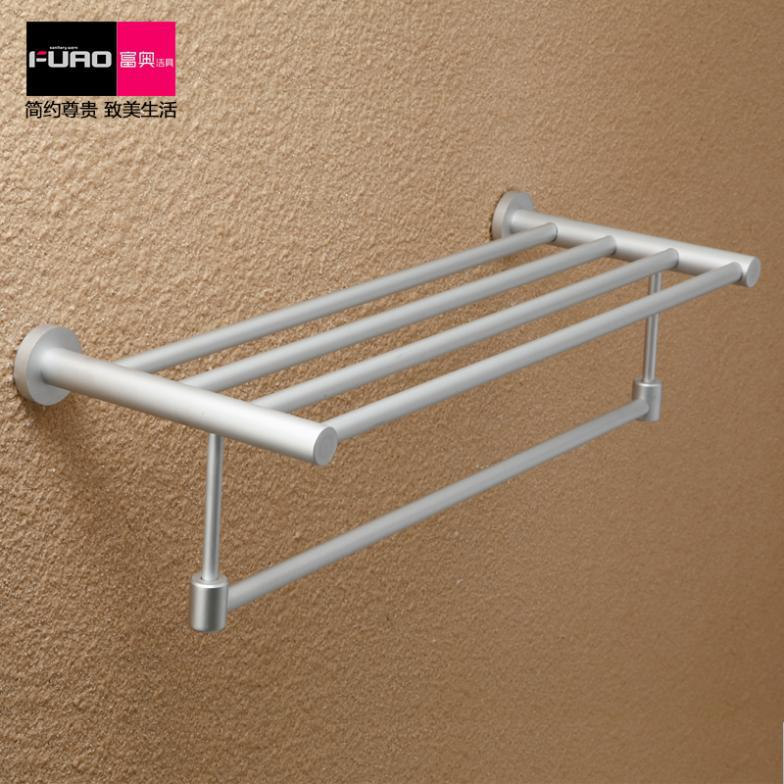 Фотография Bathroom hardware accessories space aluminum towel rack bathroom towel rack belt towel bar