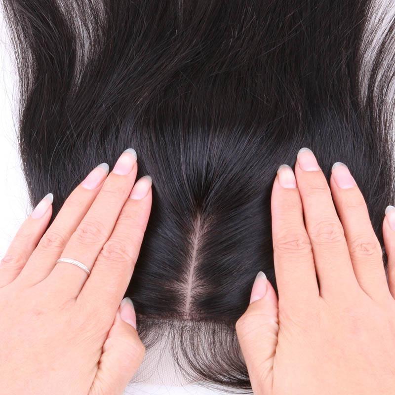 Гаджет  7A Cheap Middle/Free/3 Part Silk Base Closure Brazilian Hair Silk Closure Body Wave Silk Top Closure 4*4 Silk Lace Closure None Волосы и аксессуары
