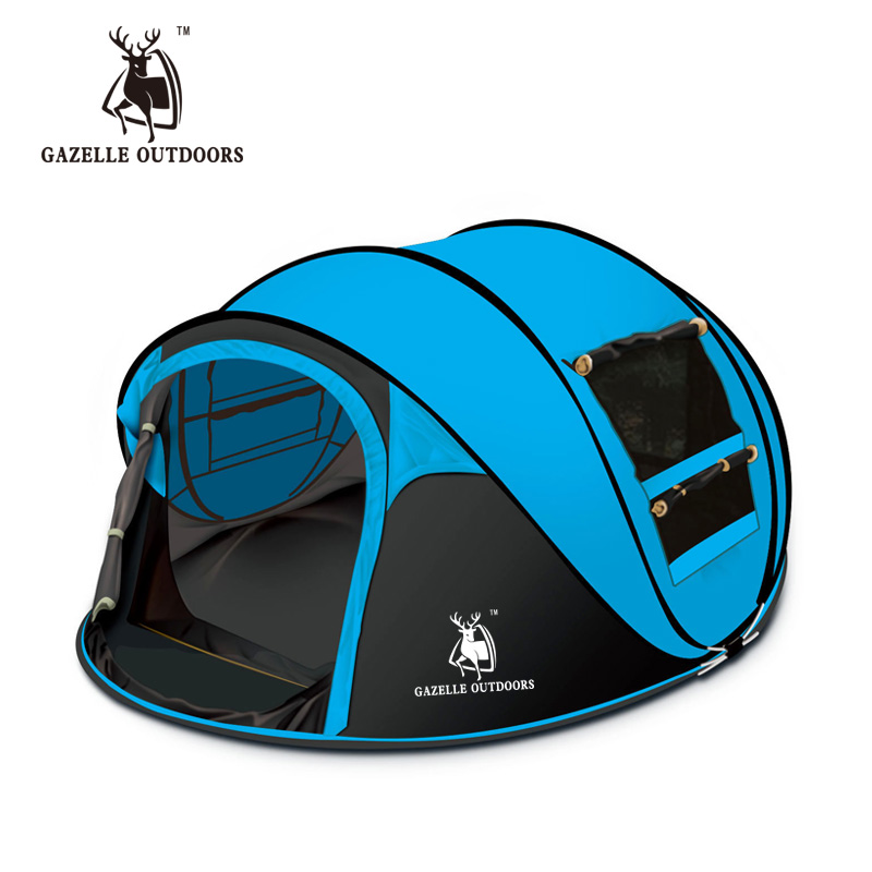 Large space outdoor 3-4persons automatic pop up tent windproof waterproof camping tent(China (Mainland))