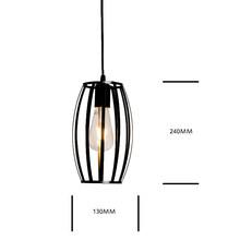 7 Тип современный черный подвесная клетка для осветительного прибора Утюг минималистский ретро скандинавский лампа в форме пирамиды метал...(China)