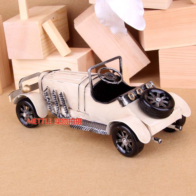 New Hot Sale Creative Gift Mini Car Model Ornaments For Home Decorative Best Gift To Friends Metal Crafts Vintage(China (Mainland))